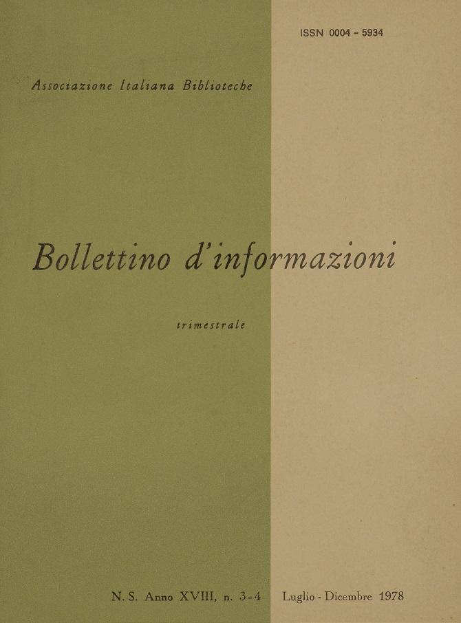 Visualizza V. 18 N. 3-4 (1978): Luglio-Dicembre