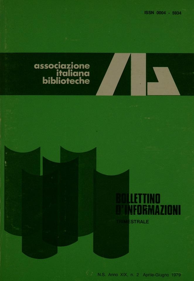 Visualizza V. 19 N. 2 (1979): Aprile-Giugno