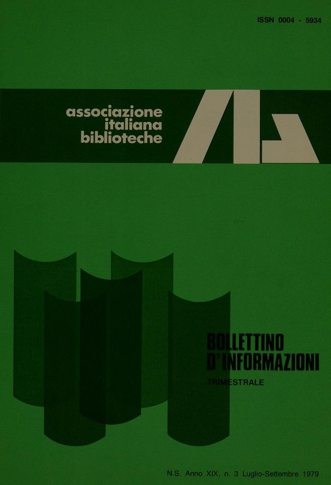 Visualizza V. 19 N. 3 (1979): Luglio-Settembre