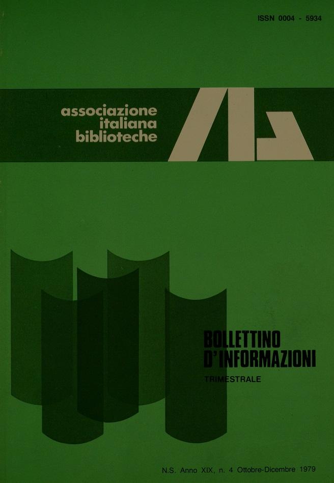 Visualizza V. 19 N. 4 (1979): Ottobre-Dicembre