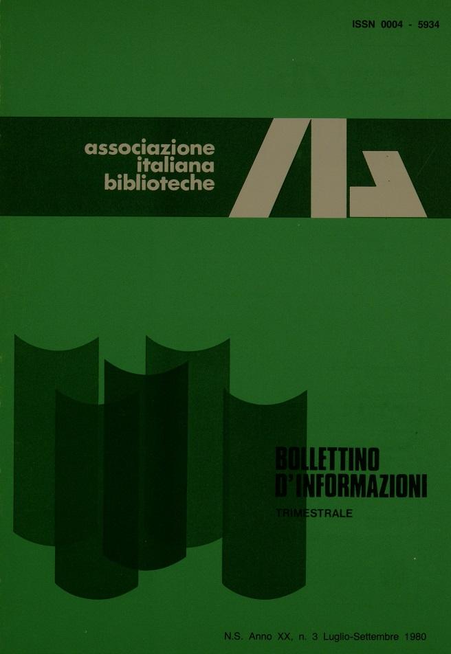 Visualizza V. 20 N. 3 (1980): Luglio-Settembre