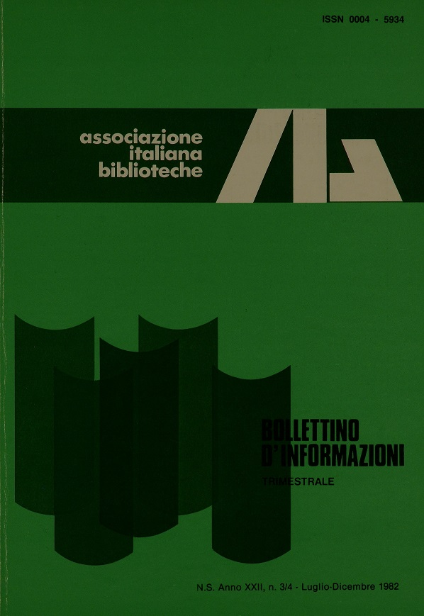Visualizza V. 22 N. 3-4 (1982): Luglio-Dicembre