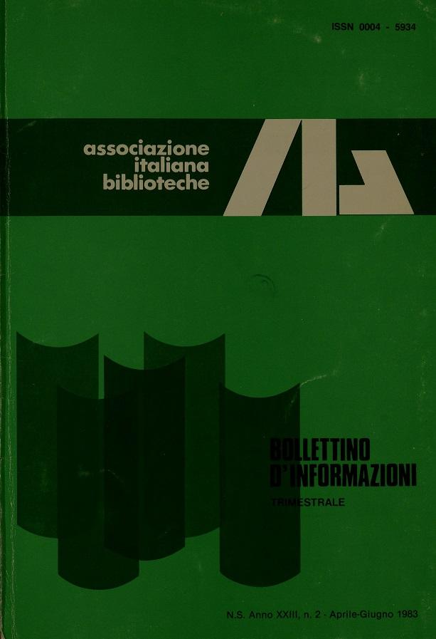 Visualizza V. 23 N. 2 (1983): Aprile-Giugno