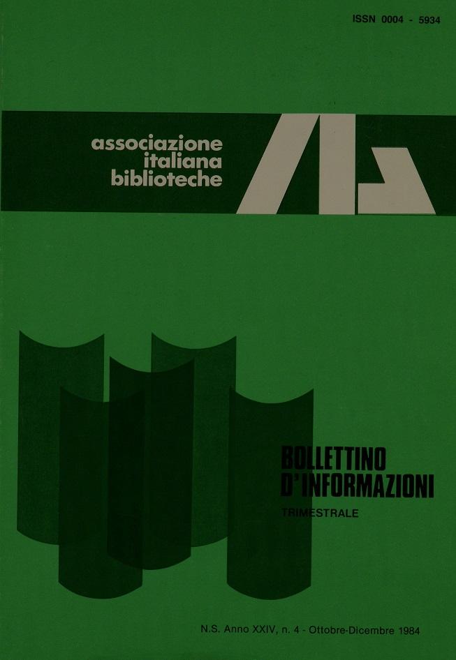 Visualizza V. 24 N. 4 (1984): Ottobre-Dicembre