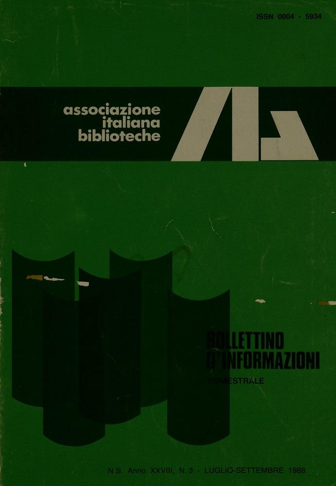 Visualizza V. 28 N. 3 (1988): Luglio-Settembre