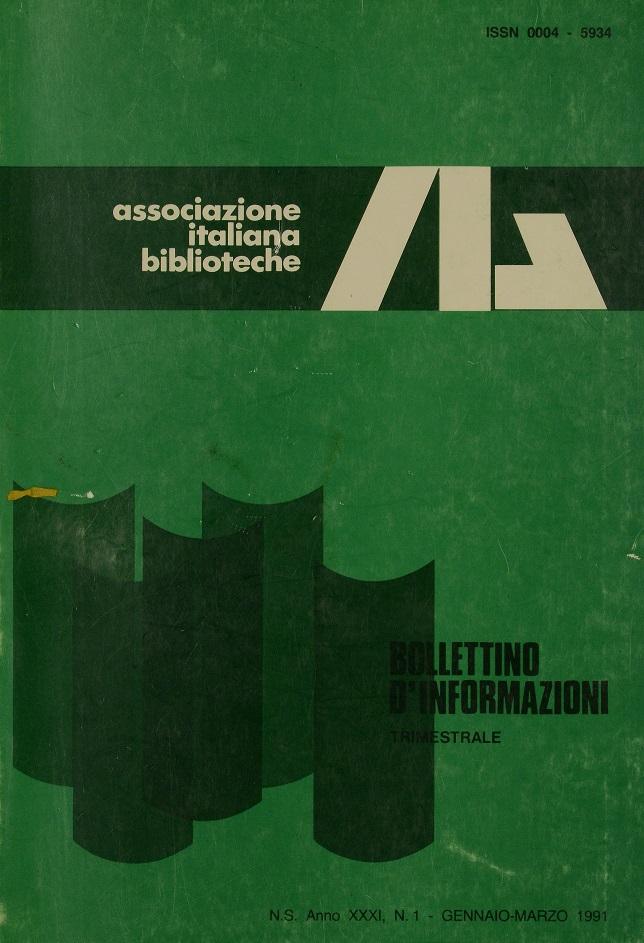 Visualizza V. 31 N. 1 (1991): Gennaio-Marzo